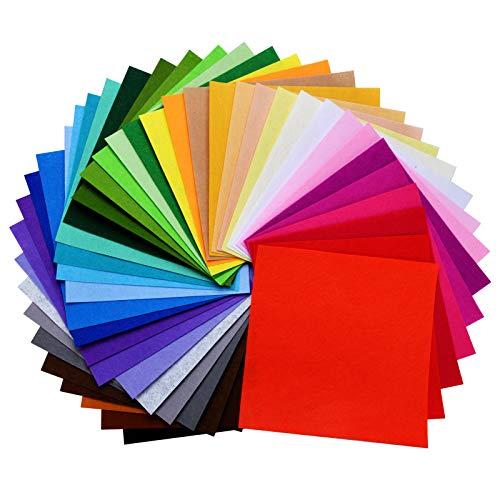 moinkerin 40 Pezzi Feltro Colorato Fogli di Tessuto in Feltro, Colorato Tessuto in Poliestere...