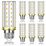 Bombillas LED E27 Eofiti Maíz Bombilla E27 Luz Calida 2700K 1200lm, Bombillas E27 12W Equivalentes a 100W Lámpara Halógena, E27 Edison Bombilla de Bajo Consumo - 6 unidades