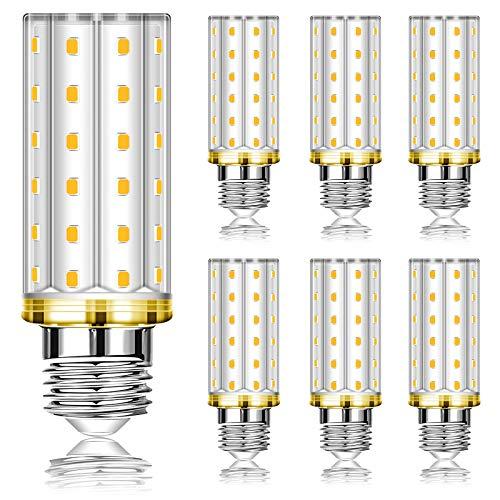 Eofiti Lampadine LED E27 12W, Equivalente 100W Lampada Alogena, E27 LED Lampada Bianca Calda 2700K 1200LM, Angolo 360, Lampadina Edison, Non Dimmerabile, AC220-240V E27 Illuminazione led, 6 Pezzi