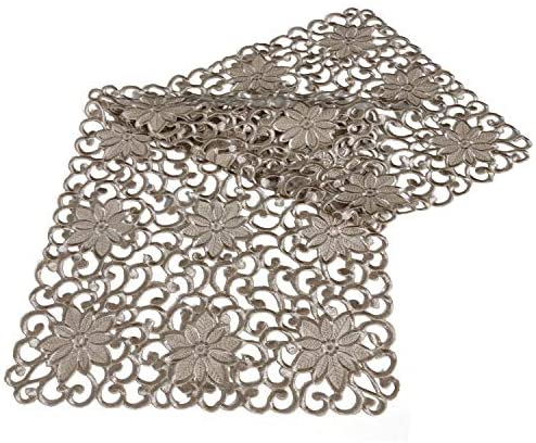 OWENIE Easter Allover Cutwork Spring Table Runners Beige Embroidered Centerpieces for Everyday product image