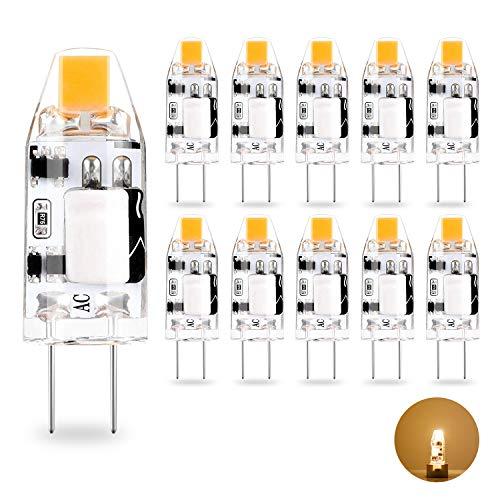 Yuiip Lampadina LED G9 6W Dimmerabile Equivalente a 60W 50W Lampada Alogena Bianco Caldo AC220-240V Lampadine, Confezione da 4 [Classe di efficienza energetica A++]