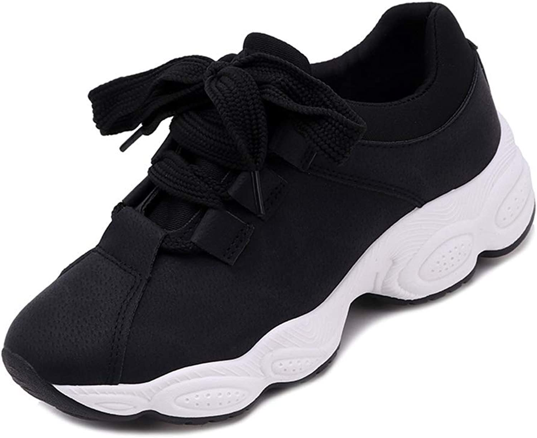 Lelehwhge Women Retro Wedges Canvas Vulcanize shoes Female Flats Platform Footwear Black 6.5 M US