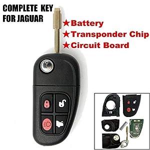 KATUR-Carcasa-de-Repuesto-para-Llave-de-Coche-4-Botones-433-MHz-4-Botones-Incluye-Chip-4D60-para-Jaguar