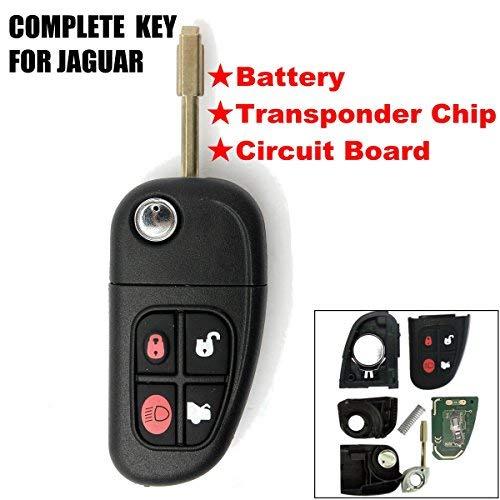 Katur4 Tasten 433MHz Fernbedienung, Schlüsselgehäuse, klappbar, ungeschliffener Schlüsselbart, Autoschlüsselhülle, Ersatzteil mit 4D60Chip, für Autos