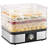KAPAS Food Dryer Dehydrator, 245W Electric Food Dehydrator Machine with 5 PCS BPA-free Trays and Adjustable Temperature Control for Beef Jerky, Fruits, Vegetables, Meat