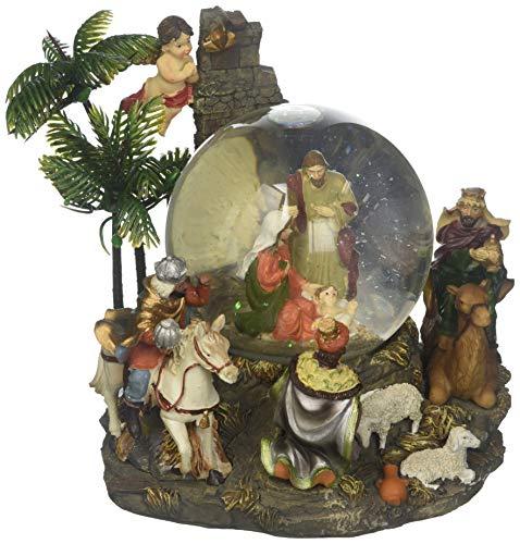 Snow globe nativity scene