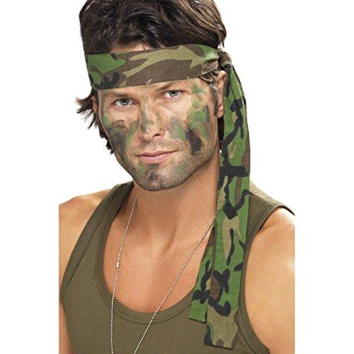NET TOYS Armee Stirnband Camouflage Haarband Tarnfarbe Militär Kopfbedeckung Kopfband Army Soldaten Tarnband Kostüm Zubehör