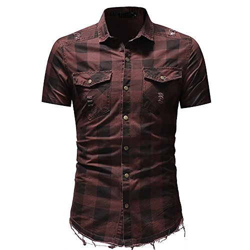 CICIYONER Herren Hemd Kurzarm Kentkragen Jeanshemd Sommer Freizeithemden Poloshirt Tshirt t Shirt M-3XL