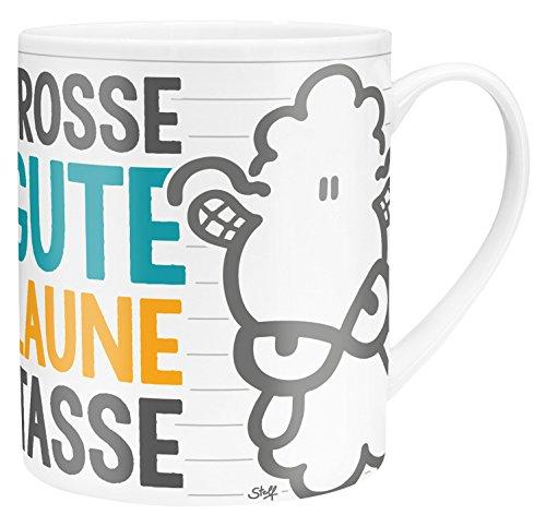 Sheepworld 45395 XL-Tasse mit Spruch Große Gute Laune Tasse, Porzellan, in Geschenk-Verpackung, 60 cl