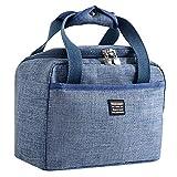 Yvelands Dégagement Lunch Bag for Men/Women,Insulated Lunch Box with Shoulder Strap,Water-Resistant Leakproof Cooler Bento Bag,Lunch Tote Handbag(Bleu)