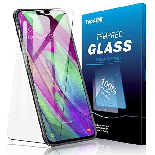 TOPACE 3 Stück Panzerglas Schutzfolie für Samsung Galaxy A40, Ultra Dünn HD Transparenz Anti-Öl Anti-Kratzer und Blasenfrei 9H Gehärtetes Glas Displayschutz für Samsung Galaxy A40 Panzerglas