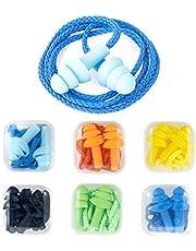 Opopark 6 Piezas Tapones para Los Oídos de Silicona, Tapones para Los Oídos Impermeables con Cable
