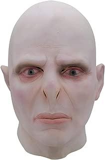 GUOJINJIN Halloween Latex Mask, Voldemort Mask Headgear Halloween Latex Horror Scared Scary Mask (Size: Free Size)