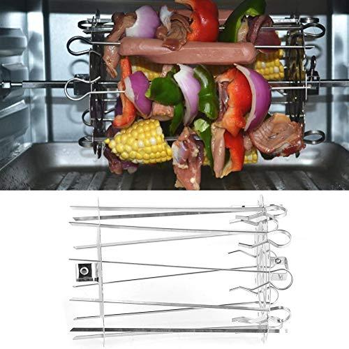 BOLORAMO 10 Pinchos para Barbacoa, Horno eléctrico, Pinchos para Barbacoa, Jaula de Agujas, Acero Inoxidable para Kebabs, alitas de Pollo, intestinos, Pescado y Otras Carnes