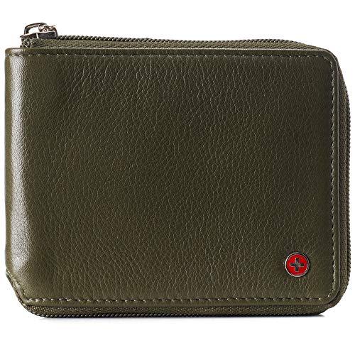 Our #5 Pick is the Alpine Swiss Zipper Wallet