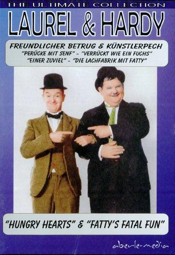 Laurel & Hardy Dick & Doof Freundlicher Betrug, Künstlerpech, Perücke mit Senf, Verrückt wie ein Fuchs