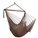 Bathonly Large Caribbean Hammock Hanging Chair with-Soft Spun Cotton...