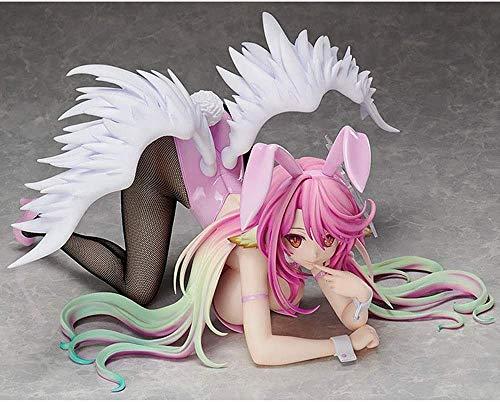 Tagke 30 cm Anime Action Figure Kein Spiel Nein Leben Jibril Bunny Girl Anime Figur Statue 1/4 PVC Modell Kniting Haltung Ornamente Anime Figur Weihnachten Geburtstag Spielzeug Geschenk