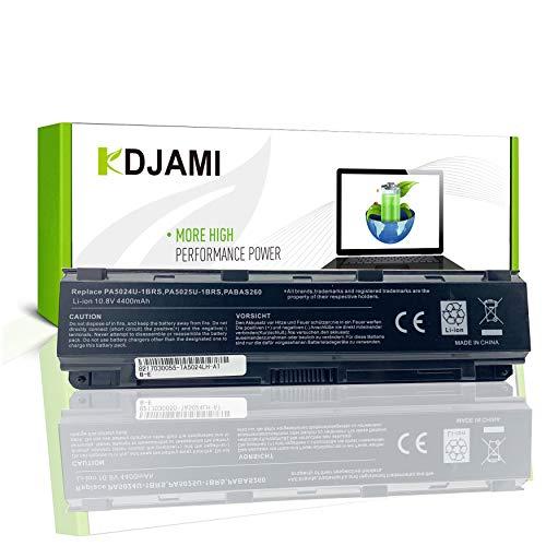 KDJAMI Batería para Toshiba PA5024U-1BRS PA5026U-1BRS PA5025U-1BRS PABAS260 PA5023U-1BRS PABAS262 PA5027U-1BRS Satellite C850 C855 L850 P850 PABAS259 [6 Celdas/4400mAh/10,8 V]