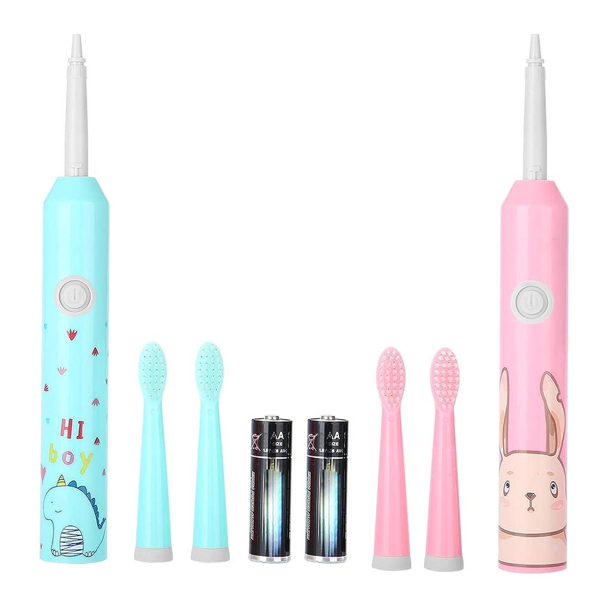 指ベスト発揮する電動歯ブラシ、自動タイマーおよび精密きれいなブラシの頭部との再充電可能な歯ブラシの深いクリーニング口頭ヘルスケアのための大人および子供のための最も長い60日電池(ピンク)