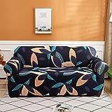 MKQB Funda de sofá retráctil Flexible, decoración del hogar, Sala de Estar, combinación de Esquina en Forma de L, Funda de sofá Antideslizante y Lavable NO.2 S (90-140cm