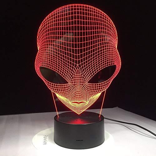 Pop-eyed Alien 3D Lampe Nachtlicht Mood Light Tischlampen 3D Optische Täuschung Schreibtischlampe 7 Farbwechsel Nachtlicht Mit Fernbedienung