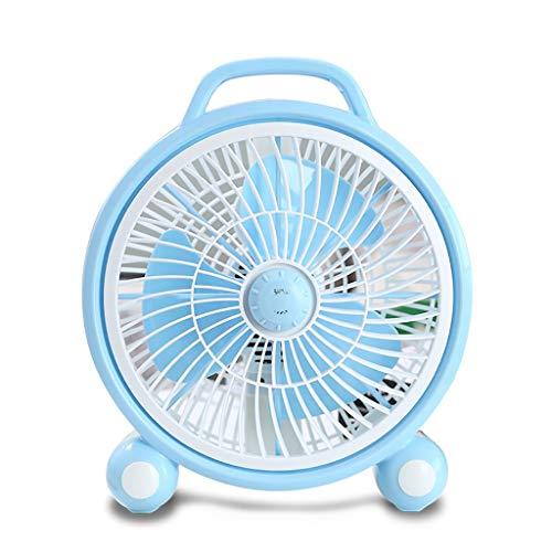 XRZMD Ventilador eléctrico hogar de los Estudiantes Dormitorio Cama pequeño Ventilador de Escritorio giradiscos Ventilador Mini Ventilador de Escritorio