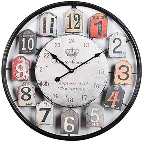 YVX Wall Clock Retro Alarm Clock For Living Room Table Desk Bedroom Vintage Classic Old Fashioned 50Cm Clock