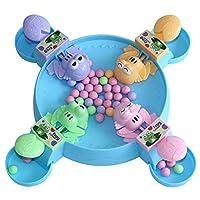 JVSISM 空腹のカエルは豆を食べる子供ボード戦略ゲーム玩具 ファミリー競争力のあるインタラクティブなストレス緩和玩具面ホワイトいゲーム、4カエル