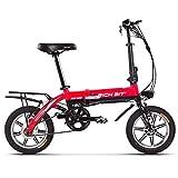 cysum TOP618 Bicicleta Eléctrica 250W 36V 10.2Ah,Ruedas de 14' Plegable Ebike,Adultos Unisex,Frenos hidráulicos,para Adolescentes y Adultos