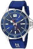 Nautica N83 Accra Beach Reloj para hombre, Blue/Silver Silicone