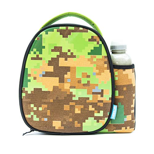 Smash Insulated Lunch Bag & 500ml Bottle, Fabric, Green/Brown/Black, 8.5cm x 25.5cm x 25cm