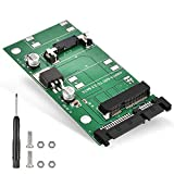 ELUTENG - Adaptador mSATA para Mini PCIe mSATA SSD de 30 x 50 mm, m-SATA unidad de estado sólido de 6 Gpbs mSATA a 22 pines SATA III Converter para Mini PCIe mSATA SSD de 30 x 50 mm
