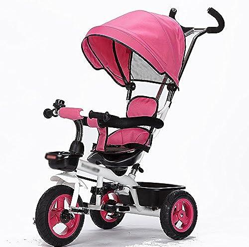 Dreirad Kinder Dreirad fürrad 1-3 Jahre alt Trolley 2-6 Kinderwagen 3 R r fürrad Kinder ( Farbe   Rosa )