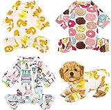 ZDZDY Mono de 3 piezas para mascotas, pijama suave para perro, cachorro, ropa linda para cachorro, cachorro, perro, gato, 3 estilos (3 piezas S-S)
