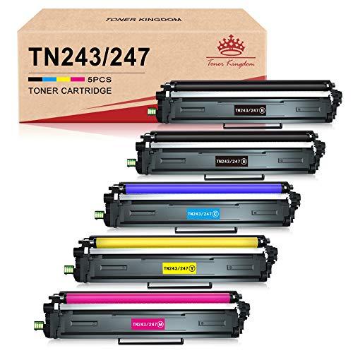 Toner Kingdom Tonerkartusche Ersatz für Brother TN247 TN243 für MFC-L3750CDW MFC-L3770CDW DCP-L3510CDW DCP-L3550CDW HL-L3210CW HL-L3230CDW HL-L3270CDW MFC-L3710CW MFC-L3730CW (5 Packung)