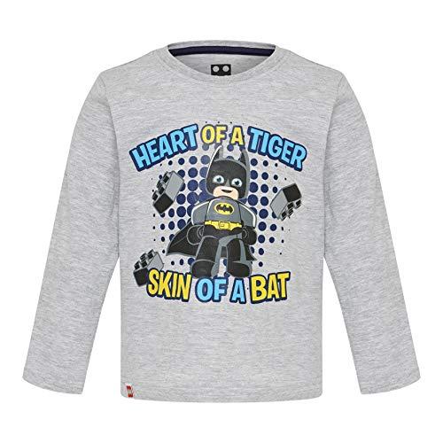 Lego Wear Lego Duplo Superheroes Batman Cm-50282-Langarmshirt T- T-Shirt À Manches Longues, Gris (Grey Melange 921), 95 (Taille Fabricant: 80) Bébé garçon