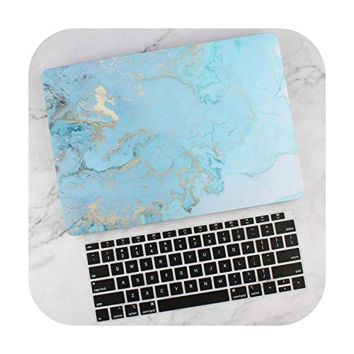 Case for MacBook Air Pro Retina 11 12 13 15 mac Book 13.3 15.4 inch with Touch Bar 2019 A2159 Cover & Keyboard Cover-Blue-Pro 15 A1707 A1990