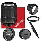 Nikon AF-S DX NIKKOR 18-140mm f/3.5-5.6G ED VR Lens Bundled Accessory Kit (White Box)