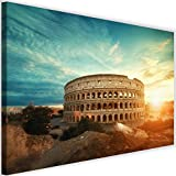 Cuadro de Pared XXL Arquitectura Impresión Lienzo Coliseo Roma Marrón 120x80 cm