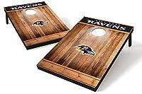 Wild Sports NFL Baltimore Ravens 2'x3' Cornhole Set - Brown Wood Design