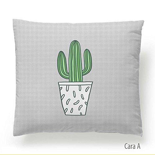Martina Home Cactus Funda de Cojín, Tela, Multicolor, 50 x 50 cm