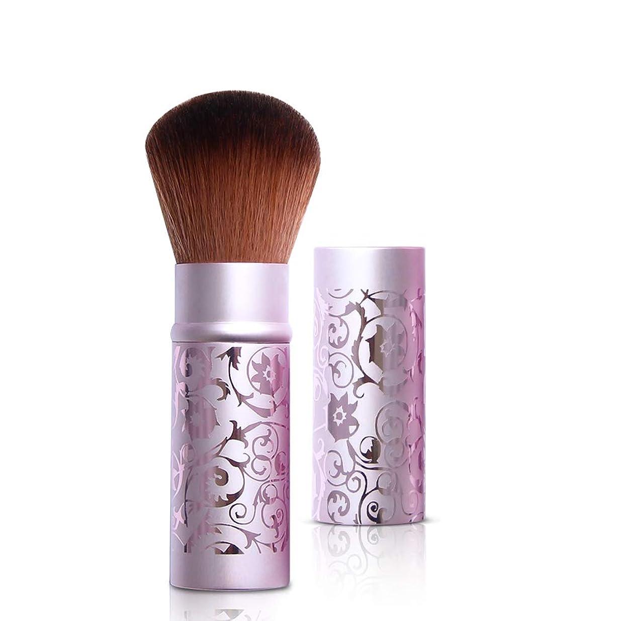スチュワードボーナス時計回りルージュブラシセット化粧ブラシ化粧ブラシルースパウダーブラシラージパウダーブラシシャドーブラシブラッシュブラシテレスコピックポータブル蓋付き,Purple