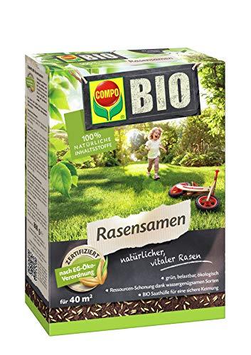 COMPO BIO Rasensamen, Zertifiziert nach EG-Öko-Verordnung, 800 g, 40 m²