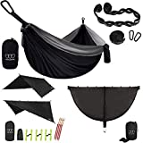 Gold Armour Camping Double Hammock and 12ft Extra Large Rain Fly Tarp and Hammock Bug Net