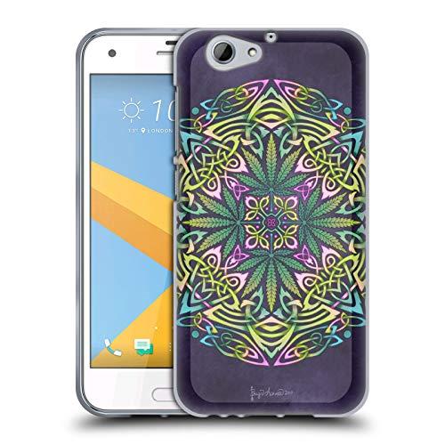 Head Case Designs Offizielle Brigid Ashwood Topf Blaetter Keltisch Soft Gel Huelle kompatibel mit HTC One A9s