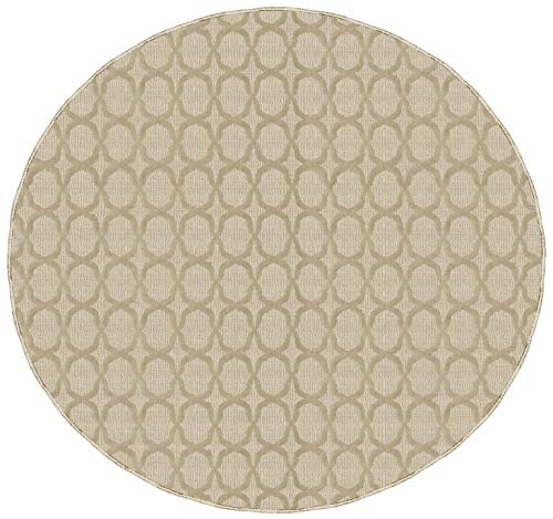Garland Rug Sparta Area Rug, 7 Ft. 6 In. Round, Tan