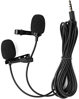 Lavalier Microfoon, Mini Revers Microfoon Opname Karaoke Mobiele Telefoon Dubbele Microfoon met Duidelijke Opname en Stem,...