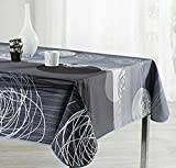 Cirad mantel antimanchas gris eclipse manteles mesa rectangular hule tela poliester (240 x 150)