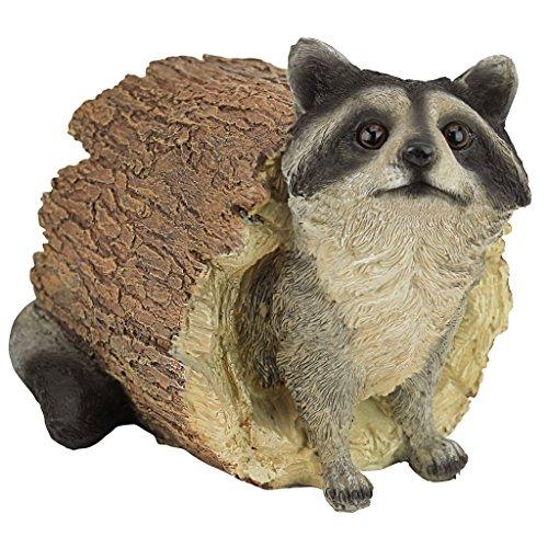 Design Toscano Bandit the Raccoon Garden Animal Statue, 25.5 cm, Polyresin, Full Color